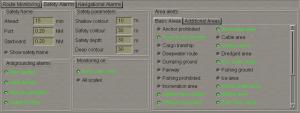 Example of Alarms ( Image Credits Transas Navisailor ECDIS Manual):